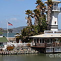Forbes Island Restaurant With Alcatraz Island In The Background . San Francisco California . 7d14261 by Wingsdomain Art and Photography