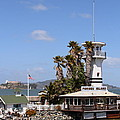Forbes Island Restaurant With Alcatraz Island In The Background . San Francisco California . 7d14263 by Wingsdomain Art and Photography