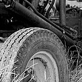 Ford Tractor Details In Black And White by Jennifer Ancker