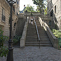 Foreshortening Of Montmartre With Street Lamp And Staircase by Fabrizio Ruggeri