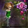 Forest Fairy Jn The Rose Garden by John Junek