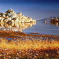Formations On Pyramid Lake by C Sitton