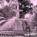 Forsyth Park Fountain In Pink by Carol Groenen