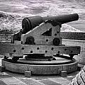 Fort Moultrie Canon - Infrared by Bill Barber