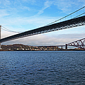 Forth Road Bridge And Forth Rail Bridge by Anna Henly