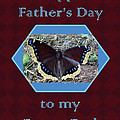 Foster Dad Father's Day Card - Mourning Cloak Butterfly by Mother Nature
