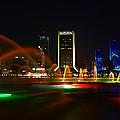 Fountain At Night by John Baldwin