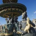 Fountain At Place De La Concorde. Paris. France by Bernard Jaubert