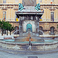 Fountain In Arles France by Greg Matchick