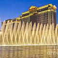 Fountains Of Bellagio In Front Of Caesar's Palace Hotel And Casi by Andre Babiak