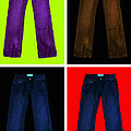 Four Pairs Of Blue Jeans - Painterly by Wingsdomain Art and Photography
