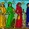 Four Temperaments, Medieval Woodcut by Science Source