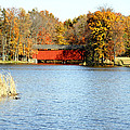 Fowler Lake And Covered Bridge by Franklin Conour