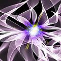 Fractal Flower . Dahlia by Renee Trenholm