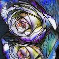 Fractalius Rose Reflection by Marianne Troia