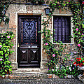 Framed In Flowers Dordogne France by Dave Mills