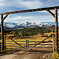 Framed Sneffels Mountain Range Colorado by Dave Mills