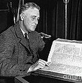 Franklin D. Roosevelt, 32nd American by Photo Researchers