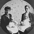 Franklin D. Roosevelt And Young Wife by Everett