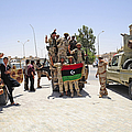 Free Libyan Army Troops Pose by Andrew Chittock