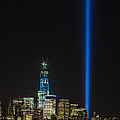 Freedom Tower And Tribute In Light by John Dryzga