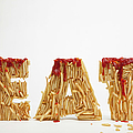 French Fries Molded To Make The Word Fat by Caspar Benson