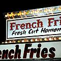 French Fries Sign by Valentino Visentini