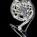 French Horn Color Photo Drawing by M K Miller