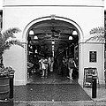 French Quarter French Market Entrance New Orleans Black And White by Shawn O'Brien