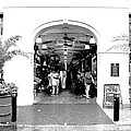 French Quarter French Market Entrance New Orleans Conte Crayon Digital Art by Shawn O'Brien