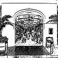 French Quarter French Market Entrance New Orleans Stamp Digital Art by Shawn O'Brien