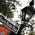French Quarter French Market Street Sign New Orleans Diffuse Glow Digital Art by Shawn O'Brien