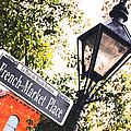 French Quarter French Market Street Sign New Orleans Film Grain Digital Art by Shawn O'Brien