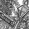 French Quarter French Market Street Sign New Orleans Photocopy Digital Art by Shawn O'Brien