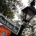French Quarter French Market Street Sign New Orleans  by Shawn O'Brien