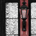 French Quarter Gas Lamp With Red by VJ Lair