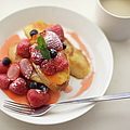 French Toast And Strawberries Source by Cocoaloco