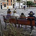 Friends On Park Bench by Madeline Ellis