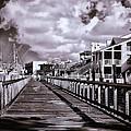 Front Street Boardwalk - Infrared by Bill Barber