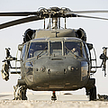 Front View Of A Uh-60l Black Hawk by Terry Moore