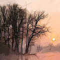 Frosty Morning At The Lake by Steve K
