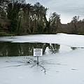 Frozen Pond No Parking by Gary Eason