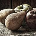 Fruit On A Wooden Stool by Javier Barras