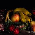 Fruit Still Life With Wine by Ann Garrett