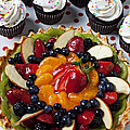 Fruit Tart Pie And Cupcakes  by Garry Gay