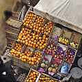 Fruit Vendor In The Kahn by Mary Machare