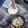 Frying Walleye Fish Fillets by Skip Brown