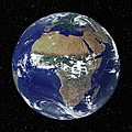Full Earth Showing Africa And Europe by Stocktrek Images