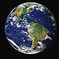 Full Earth Showing The Western by Stocktrek Images