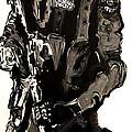 Full Length Figure Portrait Of Swat Team Leader Alpha Chicago Police In Full Uniform With War Gun by M Zimmerman MendyZ